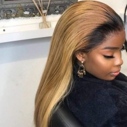 1B27 Lace Front Wigs Human...