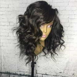 Short Human Hair Wigs Remy...