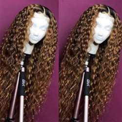 Ombre Blonde Curly Lace...