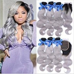 Ombre Hair Weave Body Wave...