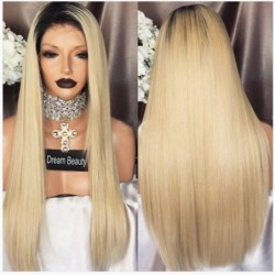 Straight Ombre Blond Human...